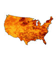usa fire map vector image vector image