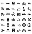 venicle icons set simple style vector image vector image