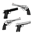 weapon pistol and revolver vector image vector image
