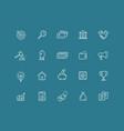 web icons set elements for website presentation vector image vector image