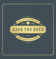 wedding save the date invitation card vector image vector image