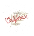 Welcome to California republic t-shirt vector image