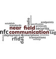 word cloud - near field communication vector image vector image
