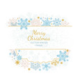 xmas card snow flake frame white background vector image vector image
