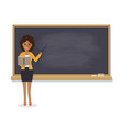 african teacher teaching student in classroom vector image