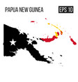 papua new guinea map border with flag eps10 vector image