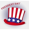 Presidents Day background with Patriotic Uncle Sam vector image