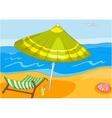 Beach Cartoon vector image