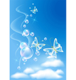 sky and clouds vector image