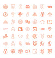 49 currency icons vector image vector image