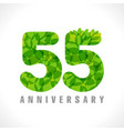 55 leaves transparent vector image vector image