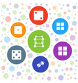 7 cube icons vector image vector image