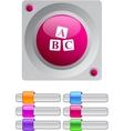 ABC cubes color round button