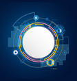 abstract technology circle blue background vector image vector image