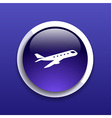 Airplane Plane symbol Travel icon Flight flat labe vector image vector image