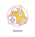 autumn season concept icon vector image vector image