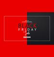 black friday sale background modern design vector image vector image