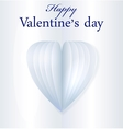 Blue paper Valentines heart vector image vector image