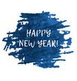 blue splash blot with happy new year text vector image