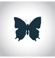 Butterfly simple icon vector image vector image