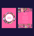 card flyer brochure template for beauty vector image vector image
