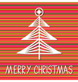 Christmas Tree Paper Greeting Card vector image