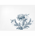 chrysanthemums japanese chinese design sketch ink vector image vector image