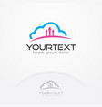 cloud backup logo vector image vector image