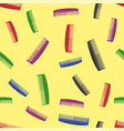 Colorful combs seamless pattern vector image