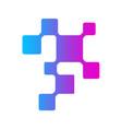 digital technology dna molecula logo vector image