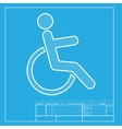 Disabled sign White section of icon vector image vector image