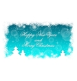 elegant christmas background with snow vector image vector image
