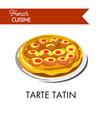 fruity tarte tatin from french cuisine isolated vector image vector image