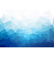 geometric blue cold texture background vector image vector image