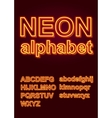Glowing Neon Alphabet for Poster or booklet vector image vector image