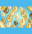 golden eggs background vector image