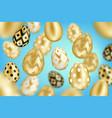 golden eggs background vector image vector image