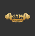 gym fitness vintage logo design inspiration in vector image
