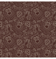 hand draw ornate seamless flower paisley design ba vector image vector image