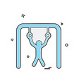 hanging icon design vector image vector image
