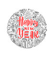 happy new year 2019 doodle greeting card vector image vector image