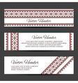Header or banner design template vector image