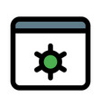 intenet browser setting and maintenance vector image vector image