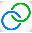 interlocking circles rings abstract logo element vector image