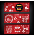 Invitation Merry Christmas vector image