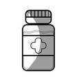 line bottle pills treatment and healthy medication vector image vector image