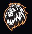 lion head sports mascot logo icon design vector image vector image