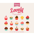 Lovely Cupcake Icon Set vector image vector image