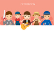 Men With Different Occupations Set On Banner vector image