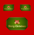 Merry Christmas card holders vector image vector image